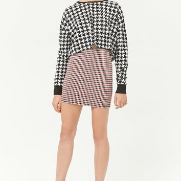 Houdstooth Mini Skirt