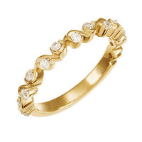 14kt Yellow 1/4 CTW Diamond Anniversary Band