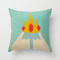 Minimalist Adventure Time Ice King Throw Pillow by Lalalaokay | Society6