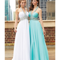 Madison James 15-103 Water Blue Beaded Bodice Grecian Dress 2015 Prom Dresses