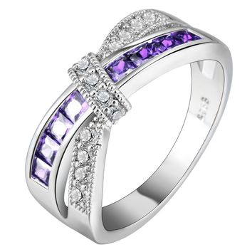 Amethyst Cubic Zirconia Rings Rings for Women Wedding Engagement Rings Promise Rings
