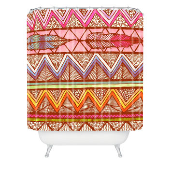 Lisa Argyropoulos Two Feathers Shower Curtain