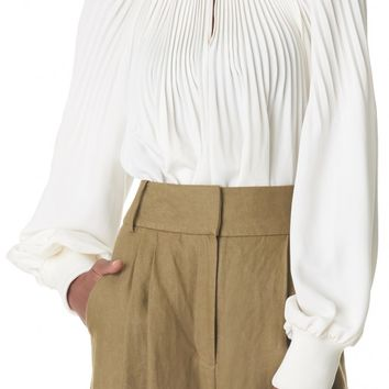Tibi Edwardian Silk Tunic Top