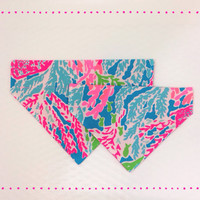 Lilly Pulitzer dog bandana - Let's Cha Cha