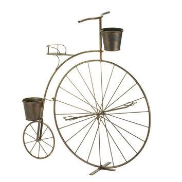 Large Outdoor Planters, Metal Plant Stand Tall Old-fashioned Bicycle Plant Stand