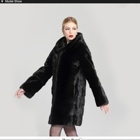 Real Rex Fur hooded Coats