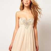 Little Mistress | Little Mistress Embellished Bodice Prom Dress at ASOS