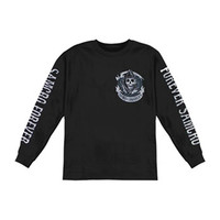 Sons Of Anarchy Men's  SOA 2 Sided Long Sleeve Black