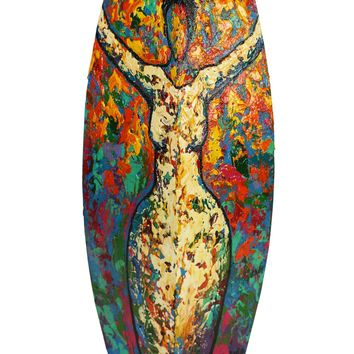 Hand Painted Wooden Vase #1