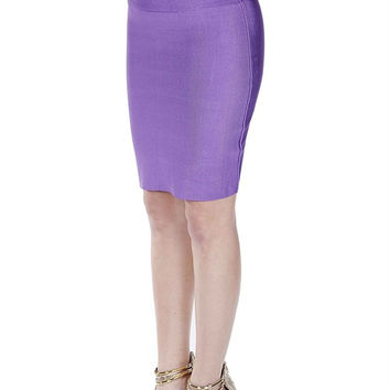 Bandage High Waist Midi Skirt- FINAL SALE