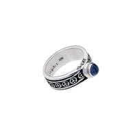 Pop Art Sterling Silver And Iolite Spinner Ring
