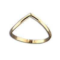 Half Round V Ring - Gold Filled