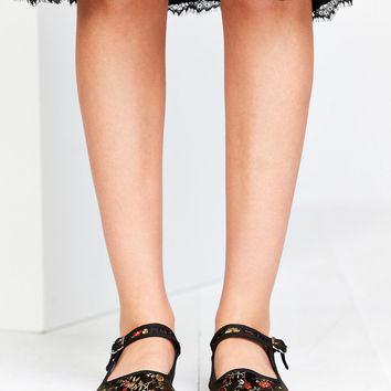 Satin Jacquard Mary Jane Flat | Urban Outfitters