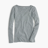 J.Crew Womens Painter Boatneck T-Shirt In Stripe