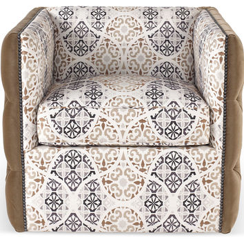 Andlinger Tufted Swivel Chair, Brown, Accent & Occasional Chairs