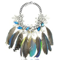 Anabela Chan Designer Necklaces Crystals and Feathers Necklace
