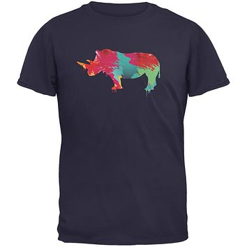 Splatter Rhino Navy Youth T-Shirt