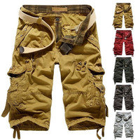 Fashion Mens Baggy Shorts Pants Camo Trousers Cargo Pants Short Pants [9305914823]