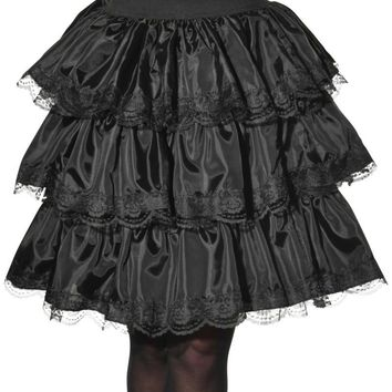 Black Ruffle Steampunk Skirt Costume, Opus Collection