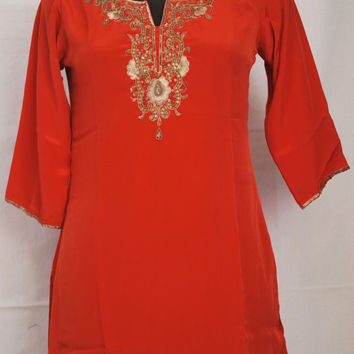 Free Shipping/Red sun dress/Tunic/Plus Size/XXL/Small/Large/Medium cover up/honeymoon dress/Beach Wedding dres/Swimsuit cover/Outsize/sequin