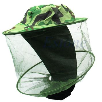 Women Men camouflage cloth Bucket Hats Insect Bee Mosquito Resistance Bug Net Mesh Head Face Protector Fishing Cap Sun Hat