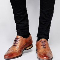 ASOS Brogue Shoes With Coloured Tread at asos.com