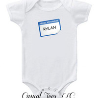 Hello My Name Is Funny Baby Bodysuit  for the Baby