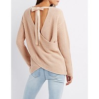 Surplice Pullover Sweater | Charlotte Russe