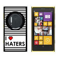 I Love Heart Haters - Snap On Case for Nokia Lumia 1020