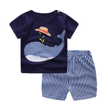 Baby boy's suit set cartoon T-shirt + shorts 2pcs/set