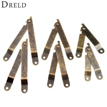 2Pcs Antique Bronze Lid Support Hinges Stay For Box Display Furniture Accessories Cabinet Door Kitchen Cupboard Hinges Lid Stays