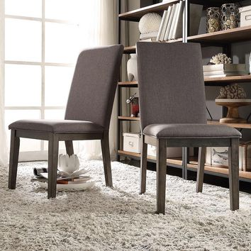 HomeVance 2-piece Colton Dining Chair Set (Grey)