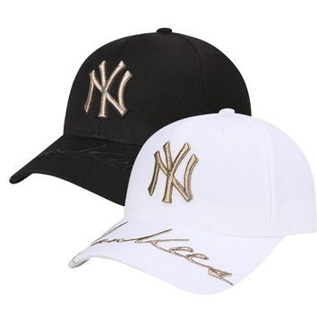 MLB New York Yankees Women and Men Embroidery Sports Sun Hat Baseball Cap Hat 006