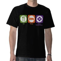 Eat Sleep Practice Veterinary Medicine T Shirt from Zazzle.com