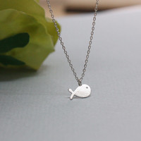 whale necklace , dainty jewelry ,layering necklace, friendship