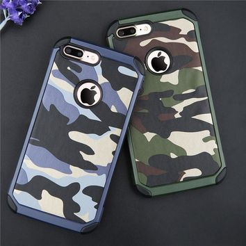 2 in 1 Military Camouflage Navy Army Camo Hard Case For iPhone 4 4S 5 5S 6 6S 6 Plus 6S Plus 7 7 Plus/Samsung Galaxy S5 S6 S6 Ed