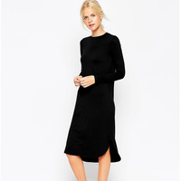 Winter Casual One Piece Dress [6338697988]