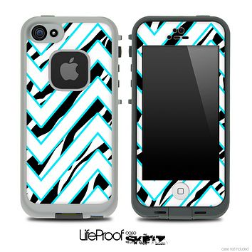 Large Chevron and Zebra Print V2 Skin for the iPhone 5 or 4/4s LifeProof Case