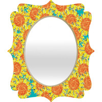 Sharon Turner Sunflower Field Quatrefoil Mirror
