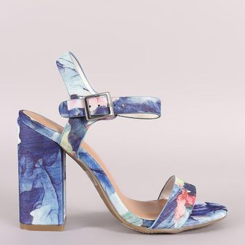 Mary Jane Heel - Floral