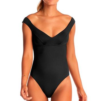 VITAMIN A Capri Black Bodysuit
