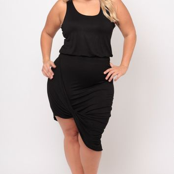 Plus Size Mykonos Dress - Black