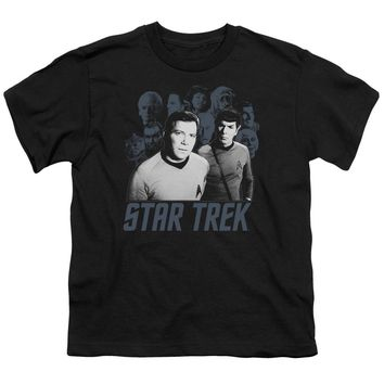 Star Trek - Kirk Spock And Company Short Sleeve Youth 18/1
