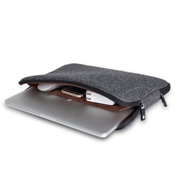 Top Selling Felt Waterproof Laptop Bag 11 12 13 14 15 15.6 Women Men Notebook Bag Case 14 Laptop Sleeve for MacBook Air 13 Case