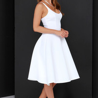 Sweet Confection Ivory Midi Dress