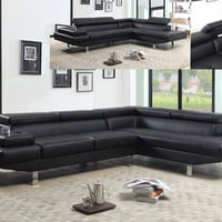 Contemporary Sectional with Storage