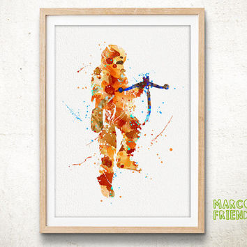 Star Wars Chewbacca - Watercolor, Art Print, Home Wall decor, Watercolor Print, Star Wars Poster