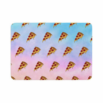 "Juan Paolo ""Lucid Pizza"" Food Pattern Memory Foam Bath Mat"