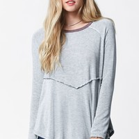 Honey Punch High-Low Long Sleeve Top - Womens Tee