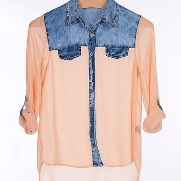 Blu Pepper Pieced Shirt